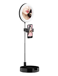 cheap -Folding LED Ring Light Tricolor Fill Light Mobile Phone Stand For Selfie Makeup Photography Video Live Stream Lamp Shelf Perfect