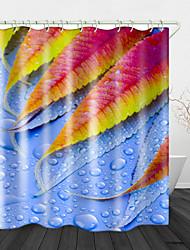 Недорогие -Plant toon цифровая печать водонепроницаемая ткань занавеска для душа для ванной комнаты домашний декор покрытый ванной шторы лайнер включает в себя с крючками