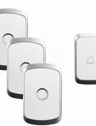Недорогие -cacazi a20 домашней безопасности беспроводной музыкальный дверной звонок комплект водонепроницаемый ac 110-220 В 300 м дистанционного беспроводного дверного звонка 1 кнопка 3 приемника
