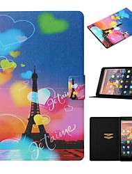 cheap -Case For Amazon Kindle Paperwhite 2/3/4 / Amazon HD8(2016) Card Holder / with Stand / Pattern Full Body Cases Eiffel Tower PU Leather For kindle fire HD 10 2015 2017