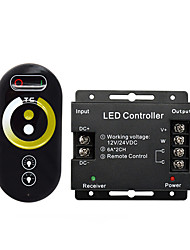 cheap -12-24 V  For LED Warm White Light  White Light Dual Color  Strip LightLed Controller Dual Color Temperature 5050 Lamp With Light Bar Wireless RF Touch Remote Control Color Temperature Dimmer 1pc
