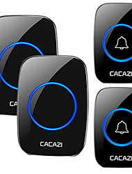 cheap -CACAZI Wireless Waterproof Doorbell 300m Range US EU UK AU Plug Home Intelligent Door Bell Chime 2 Button 2 Receiver