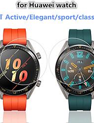 Недорогие -защитная пленка для часов huawei gt active / элегантный / спортивный / стильный закаленное стекло прозрачное высокое разрешение (hd), устойчивое к царапинам / твердость 9 ч