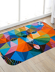 cheap -Multicolored Abstract dog Print High Quality Memory Foam Bathroom Carpet and Door Mat Non-slip Absorbent Super Comfortable Flannel Bathroom Carpet Bed Rug