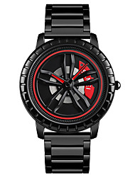 cheap -SKMEI Men's Steel Band Watches Quartz Formal Style Modern Style Casual Water Resistant / Waterproof Analog White Black Red / One Year / Stainless Steel / Shock Resistant