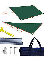 cheap -Customized Canopy Tent Outdoor 3-4 Person Awning Beach Camping Rainproof Coated Silver Canopy Wholesale Spot