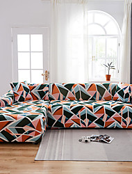 cheap -Colorful Geometric Print Slipcovers Stretch Sofa Cover Super Soft Fabric Couch Cover with One Free Pillow Case