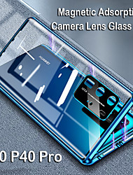 cheap -Magnetic Adsorption Tempered Glass Metal Case For Huawei P40 / P40 Pro / P40 Lite Coque 360 Protective Cases for Huawei Mate 30 / Mate 30 Pro / Mate 20 / Nova 7i / Nova 6SE / Nova 6 / P30 / P30Pro