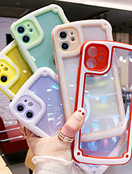 cheap -iPhone11Pro Max Candy Color Transparent Phone Case XS Max Shockproof Silicone Bar Frame 6/7 / 8Plus / SE2020 Protective Case