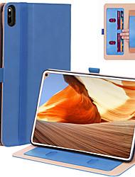 Недорогие -Кейс для Назначение Таблетки Huawei MatePad Pro Бумажник для карт / Защита от удара Чехол Однотонный Кожа PU