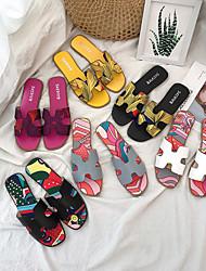 cheap -Women's Slip-On Open Toe Side Cutout Flat Slide Sandal Home Slipper