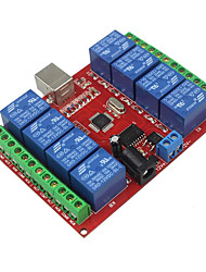 cheap -8 Way 12v Computer USB Control Switch Free Drive Relay Module / Pc Intelligent Switch Controller / Red Board