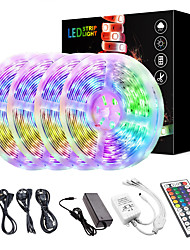 cheap -KWB 20M(4*5M) LED Light Strips Kit RGB Tiktok Lights 2835 1200 LEDs 8mm Strip Flexible Light LED IR 44Key Remote Controller with EU US AU UK Power Supply AC110-240V