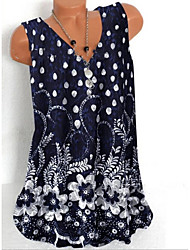 cheap -Women's Polka Dot Print Tank Top Daily Blue