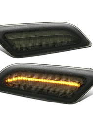 cheap -LED Side Marker Lights Turn Lamp Smoked Tinted Lens Pair For Mercedes-Benz W204 C-Class Models Only 2012-2014