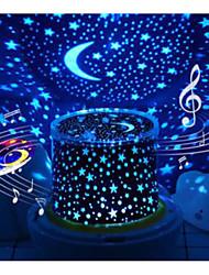 Недорогие -Проектор огни MOON Звезда Проектор звёздного неба LED освещение Игрушки с подсветкой Лампа созвездия Звездный Проектор Мерцание 5 V USB Аккумуляторы Детские Взрослые