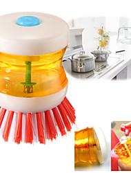 Недорогие -8.5 * 8 см высококачественный пластиковый кухонная утварь для мытья посуды горшок щетка с жидкостью для мытья посуды sili1 шт