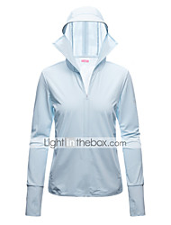 cheap -Women's Full Zip Track Jacket Hoodie Jacket Long Sleeve Elastane UV Sun Protection UPF50+ Running Walking Fitness Jogging Sportswear Jacket Athleisure Wear Top White Blue Purple Pink Gray Activewear