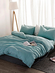 cheap -Washed cotton four-piece bed sheet style bed sheet set simple air bed linen single double