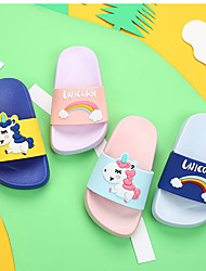 cheap -Boys' / Girls' Comfort PVC Slippers & Flip-Flops Toddler(9m-4ys) / Little Kids(4-7ys) Purple / Yellow / Pink Spring / Summer