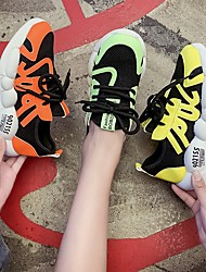 cheap -Women's Trainers / Athletic Shoes Summer Flat Heel Round Toe Daily Mesh Yellow / Orange / Green