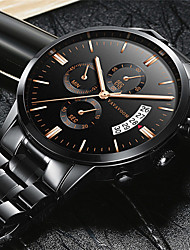 cheap -Men's Dress Watch Analog Quartz Fashion Water Resistant / Waterproof Calendar / date / day Day Date / One Year / Stainless Steel