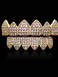 cheap -Teeth Set / Teeth Grills Statement Stylish Luxury Unisex Body Jewelry For Halloween Street Copper Gold Silver