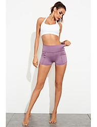זול -בגדי ריקוד נשים / כל ספורט / יוגה ספורטיבי / Temel צועד - אחיד מותניים גבוהים שחור סגול S M L