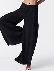 cheap -Women's High Waist Yoga Pants Wide Leg Pants / Trousers Breathable Black Cotton Gym Workout Pilates Fitness Sports Activewear Stretchy Loose