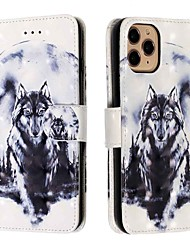 cheap -Case For Apple iPhone 11 / iPhone 11 Pro / iPhone 11 Pro Max Wallet / Card Holder / with Stand Full Body Case White Wolf PU Leather / TPU for iPhone Xs Max / Xr / Xs / X / SE (2020) / 8 Plus / 8