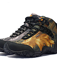 cheap -Men's Hiking Shoes Hiking Boots Waterproof Breathable Comfortable Non Slip High-Top Camo / Camouflage Camping / Hiking Hunting Climbing Autumn / Fall Summer Winter Yellow Grey / Round Toe