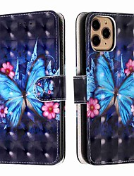 cheap -Case For Apple iPhone 11 / iPhone 11 Pro / iPhone 11 Pro Max Wallet / Card Holder / with Stand Full Body Case Blue Butterfly PU Leather / TPU for iPhone Xs Max / Xr / Xs / X / SE (2020) / 8 Plus / 8
