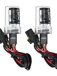 Недорогие -2 шт. H7 автомобиль спрятал ксеноновые фары лампы преобразования комплект 55 Вт постоянного тока 9-16 В 5500lm 5000 К / 6000 К / 8000 К IP68