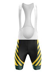 cheap -21Grams Men's Cycling Bib Shorts Bike Bib Shorts Padded Shorts / Chamois Pants Quick Dry Breathable Sports Australia National Flag Black / Yellow Mountain Bike MTB Road Bike Cycling Clothing Apparel