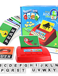 cheap -Educational Flash Card Matching Letter Game Educational Toy Letter Spelling Letter Reading Game Improve Memory ABS Resin Kid's Preschool Cute Kits Non Toxic 30 pcs 3-6 Y