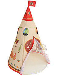 cheap -Play Tent & Tunnel Playhouse Tent Kids Play Tent Teepee Beach Theme Castle Foldable Convenient Polyester Polyester Microfiber Indoor Outdoor Spring Summer Fall 3 years+ All Pop Up Indoor/Outdoor
