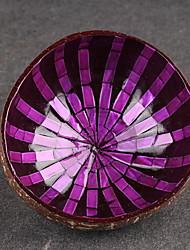 Недорогие -Красочная миска с павлиньими скорлупами и кокосовым орехом, ручная роспись, ремесло, художественные закуски, чаша d13.5, h5.7cm