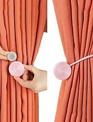 Недорогие -2 шт магниты для занавеса магнит держатель захвата занавес аксессуары завязать назад европейский стиль кратко плетеный круглый магнит магнит