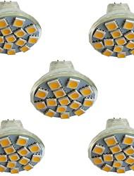 cheap -5pcs 3 W LED Spotlight 300 lm MR11 15 LED Beads SMD 5050 Warm White Cold White Natural White 9-30 V