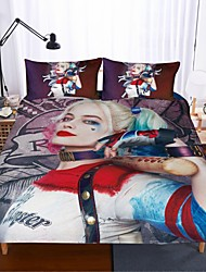 cheap -Home Textiles 3D Bedding Set  Duvet Cover with Pillowcase 2/3pcs Bedroom Duvet Cover Sets  Bedding suicide squad