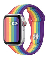 abordables -Le Gel de Silice Bracelet de Montre  Sangle pour Apple Watch Series 5/4/3/2/1 21cm / 8.27 Pouces / 24cm / 9 pouces 2.2cm / 0.9 Pouces