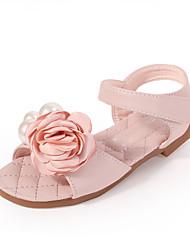 cheap -Girls' Comfort / Flower Girl Shoes Microfiber Sandals Dress Shoes Toddler(9m-4ys) / Little Kids(4-7ys) Sparkling Glitter / Flower Pink / Ivory Spring / Summer / Party & Evening / Rubber
