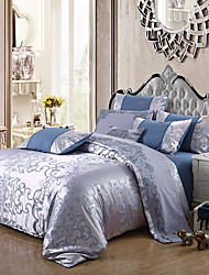 cheap -Double all-european Satin Satin bed linen 4-piece jacquard bed linen wedding cotton bedding