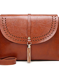 cheap -Women's Zipper PU Leather Top Handle Bag Leather Bags Brown