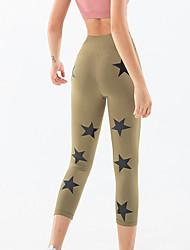 cheap -Women's High Waist Yoga Pants Capri Leggings Butt Lift Quick Dry Black Army Green Royal Blue Nylon Gym Workout Running Fitness Sports Activewear High Elasticity Skinny / Gold