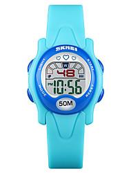billige -SKMEI Kids Digital Watch Digital Sport PU-lær 30 m Vannavvisende Kalender Kronograf Digital Mote - Svart Blå Lilla Ett år Batteri Levetid