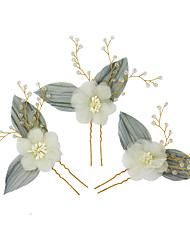 cheap -Sweet Style Chiffon / Crystal / Alloy Hair Stick / Hair Accessory with Crystal 1pack Wedding / Party / Evening Headpiece