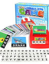 cheap -Educational Flash Card Matching Letter Game Picture Word Matching Game Educational Learning Games Educational Toy Letter Spelling Letter Reading Game Improve Memory ABS Resin Kid's Preschool Cute