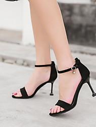 cheap -Women's Heels / Sandals Summer Stiletto Heel Peep Toe Daily PU Almond / Black / Yellow