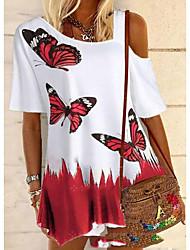preiswerte -Damen Tier T-shirt Alltag Weiß